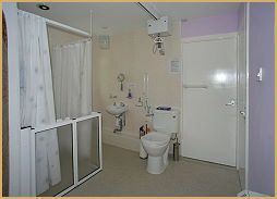 Ty Hapus - wetroom with ceiling track hoist