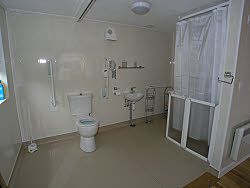 Arfon - wetroom with ceiling track hoist