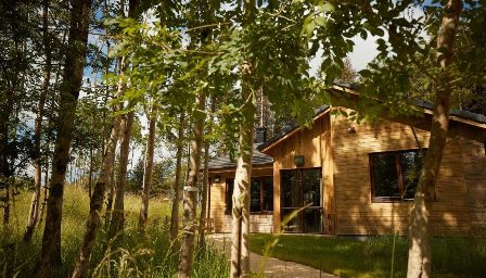 Center Parcs - Longford Forest, Ireland. Forest resort with 9 accessible lodges with ceiling hoists
